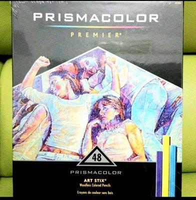 Prismacolor Premier Art Stix Woodless Colored Pencils, 48色
