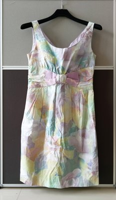 【二手,正品】【MOSCHINO CHEAPANDCHIC】繽紛色彩無袖洋裝