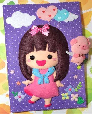 最新 ponponhouse66 寶寶手冊套 媽媽手冊 豬年 女孩 訂製品