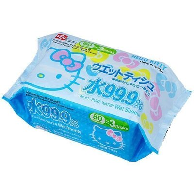 JP購✿4903320482326 日本製濕紙巾補充包-KT大臉GAD 凱蒂貓 kitty 濕紙巾 補充包 隨身包