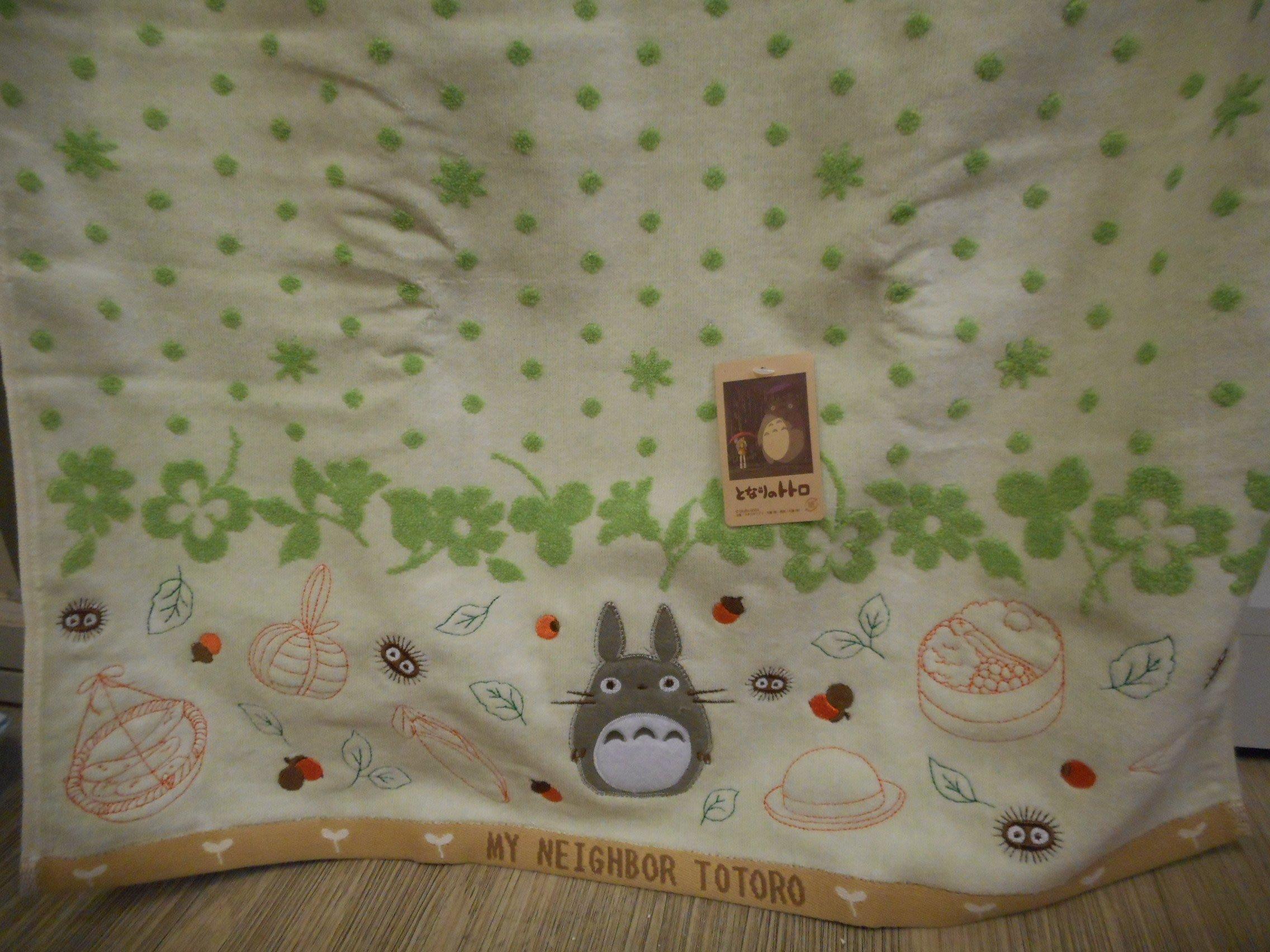 ~~凡爾賽生活精品~~全新日本進口宮崎駿龍貓TOTORO綠色圓點造型浴巾