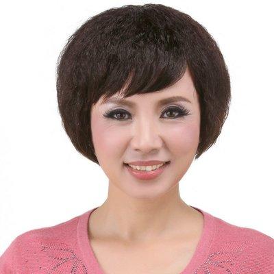 水媚兒假髮ZMF017HH♥新款女士真髮 氣質簡約 氣質典雅 短髮♥ 預購