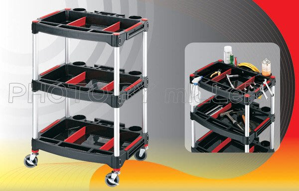 【米勒線上購物】外銷工具車 開放式 多功能工具車 575x460x900mm 附磁鐵*2