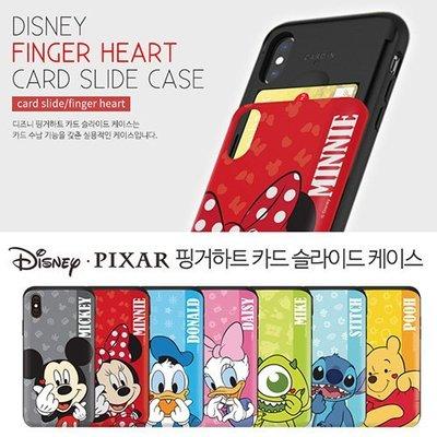 Disney 迪士尼 愛心手勢 防摔滑蓋卡夾 手機殼│iPhone X XS MAX XR│z8446