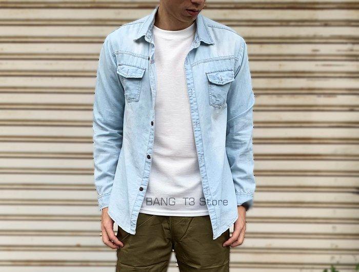 BANG T3◎實拍影 牛仔外套襯衫薄款 牛仔外套 襯衫 薄款 夾克 外套 外搭【MC13】