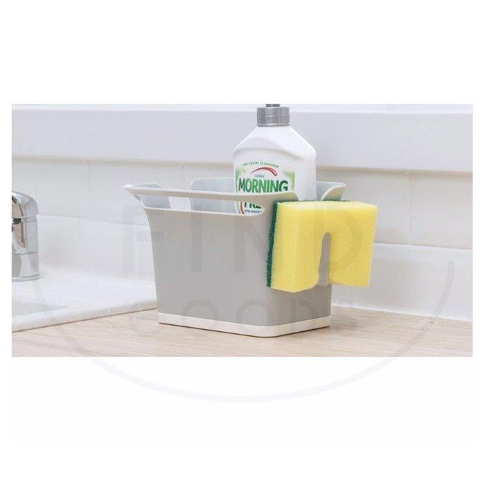 創意廚房瀝水盒水槽清潔球百潔布架收納盒籃衛生間浴室置物架_☆找好物FINDGOODS☆