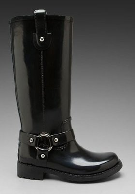 全新真品【Kors Michael Kors】Stormy 黑色高筒雨靴 雨鞋 軍靴 (男女皆宜)