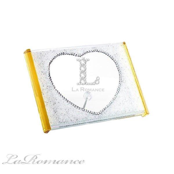 【芮洛蔓 La Romance】璀璨水晶愛心水鑽相框 / 相本 / 照片 / 紀念日
