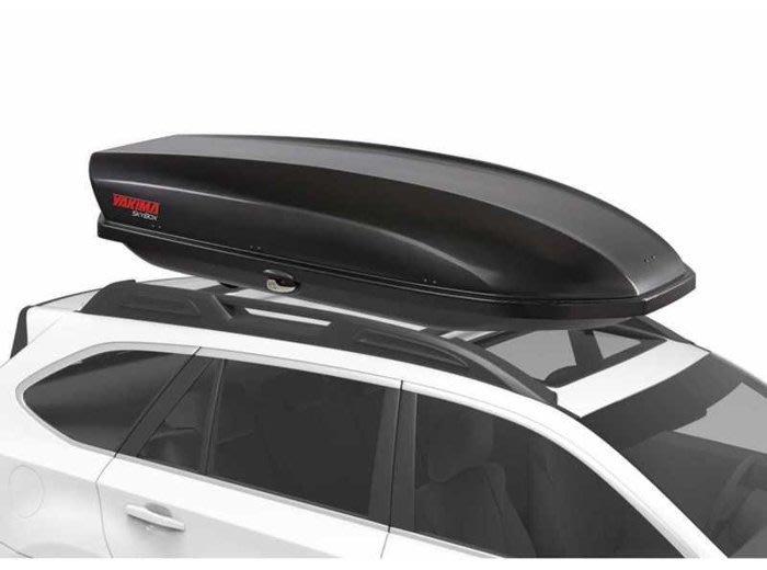阿勇車頂行李箱 雙邊開 YAKIMA天空行李箱 黑色卡夢碳纖紋路 450公升 Skybox 16S CarBonite