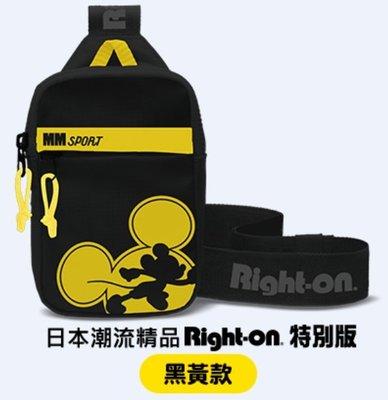 7-11 迪士尼系列 盛夏運動趣 日本潮流精品Right-on特別版 運動單肩包 (黑黃款)