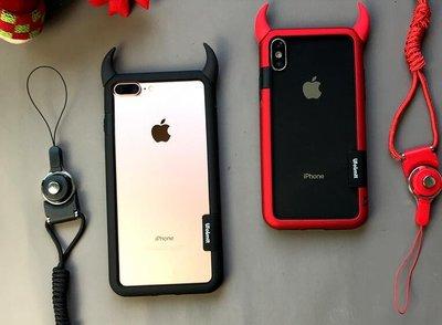 牛角 創意 矽膠 邊框軟殼 Apple 蘋果 iPhone 6/6S 5.5吋 手機套 保護套 防摔 軟殼 透明 手機殼
