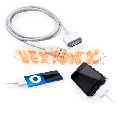 Apple2M 加長 the new ipad 充電線/傳輸線 iPhone 4S USB 充電線/傳輸線  可自取