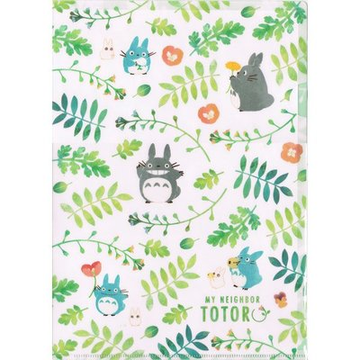 吉卜力 宮崎駿 龍貓 TOTORO 可愛 單層 A4 資料夾 白色