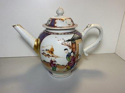 乾隆時期  廣彩  大茶壺