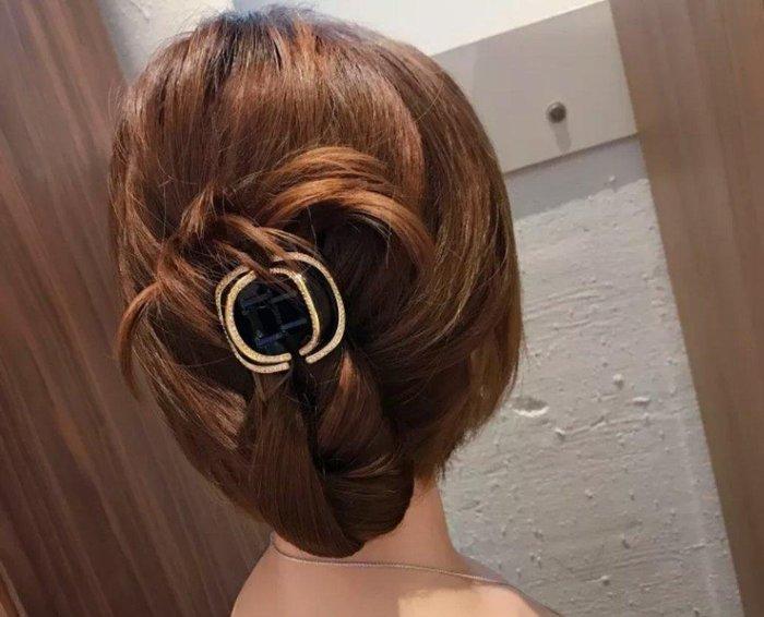 閃亮鑲鑽氣質抓夾 盤髮頂夾 髮夾