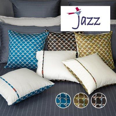 《40支紗》40x40抱枕套(一入)【共3色】Jazz 100%精梳棉-麗塔寢飾-
