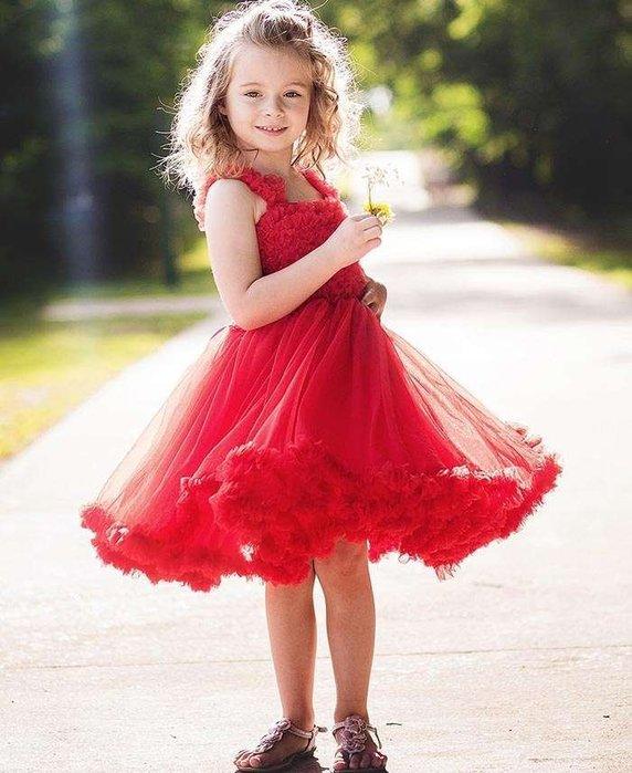 ❤Shopaholic❤美國RuffleButts 超夢幻公主大蓬裙雪紡洋裝 耀眼紅 現貨 耶誕