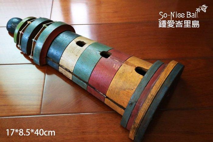 【鍾愛峇里島】巴里島必買之仿舊風雜貨木雕---大彩繪燈塔鑰匙收納盒桌飾壁飾生日禮/伴手禮/入厝