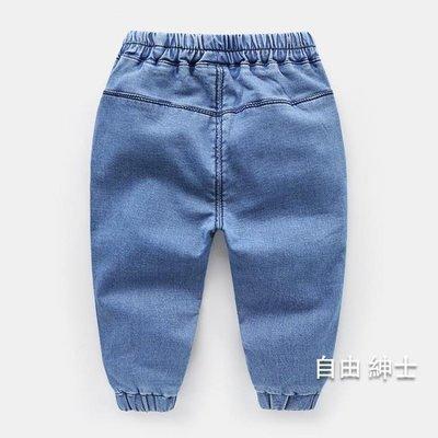 男童牛仔褲2018春裝春秋新品童裝兒童寶寶小童女3歲1長褲子潮春季