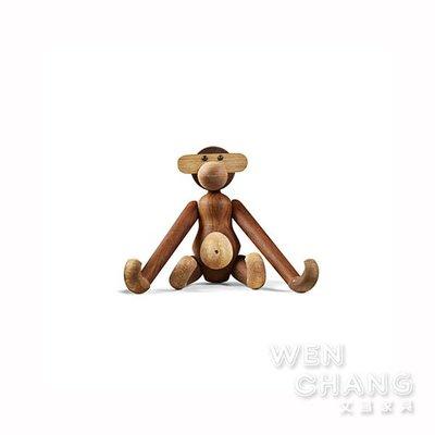 北歐風木頭猴子 實木猴子 Z181 *文昌家具*