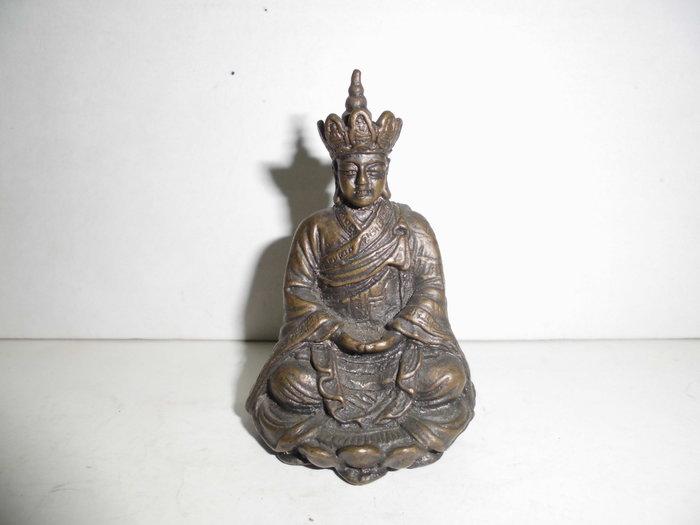 地藏王菩(實心老銅雕)