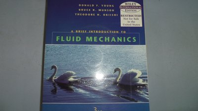 【媽咪二手書】A BRIEF INTRODUCTION TO FLUID MECHANICS附光碟  6鐵