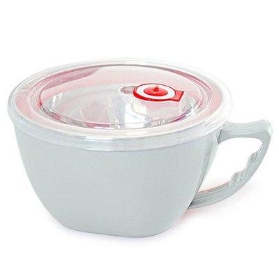 現貨 湯碗 900ML 保鮮碗 雙層 隔熱 便當 碗 泡麵杯 廚房 防燙❃彩虹小舖❃【A028】304 不鏽鋼 泡麵碗