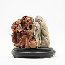 【聽竹軒】壽山石 雕刻 老翁