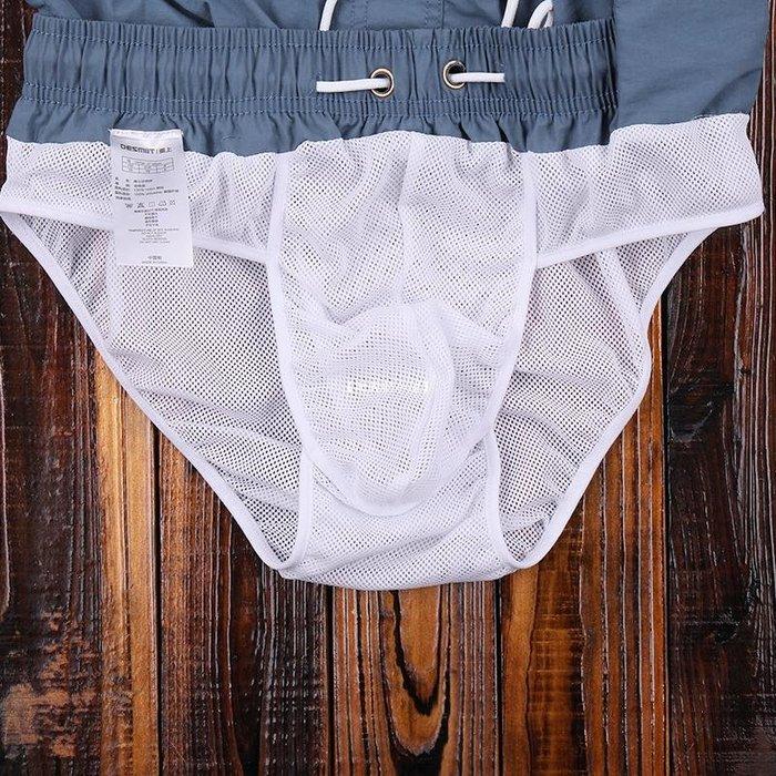 【暖暖的小屋】 沙灘褲男 海邊度假游泳褲 健身跑步運動褲速干褲大碼休閒褲帶內襯