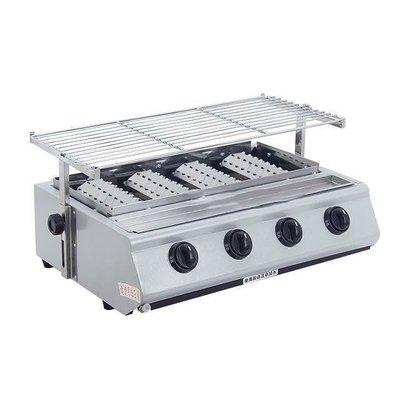 現貨 烤肉爐 四管 瓦斯 燒烤爐 無煙燒烤爐  全新非二手