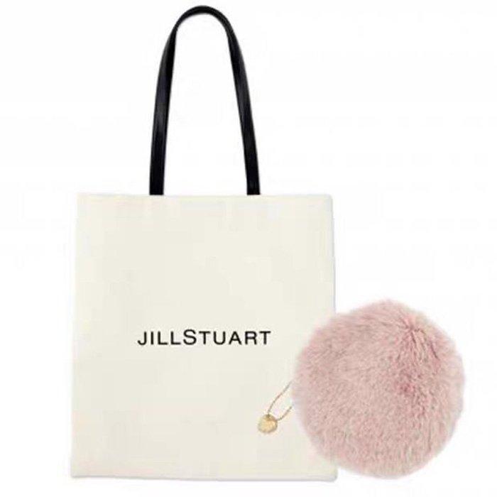 [瑞絲小舖]~日雜附錄JILLSTUART托特包&粉色毛絨絨收納包(兩件套) 單肩包 購物袋 化妝包 小物包