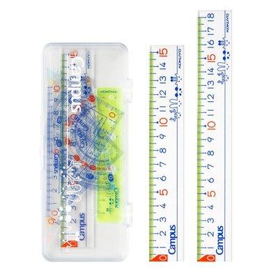 日本KOKUYO國譽直尺三角尺量角器套裝學生多功能繪圖專業刻度尺