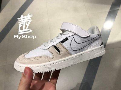 [飛董] Nike Squash Type PS 魔鬼氈 運動鞋 休閒鞋 中童鞋 CJ4120 100 白