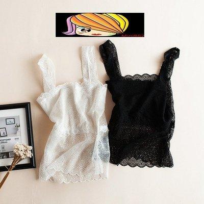 【Mi Ni】日本訂單 防走光女士蕾絲抹胸打底小吊帶背心~長款~H011605