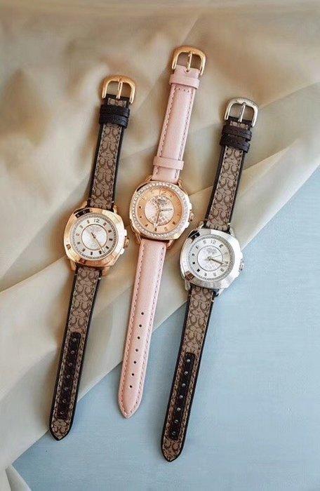 NaNa代購 COACH 手錶 經典石英手錶 經典LOGO錶帶 附購證 禮品盒