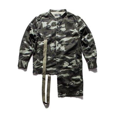 美國東村【SLIGHTLY NUMB】HSINTEN SHIRT 不對稱 織帶 迷彩 襯衫