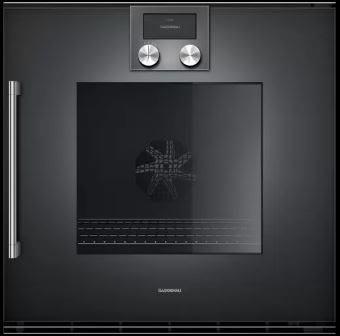 唯鼎國際【德國 GAGGENAU】BOP 240/241 101 200系列烤箱 碳黑色配玻璃門