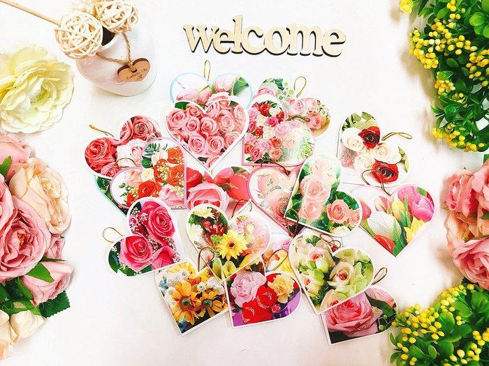 【華蕊】* 心型亮粉小卡片 * 生日卡片 情人節卡片 萬用卡片 大卡片裝飾