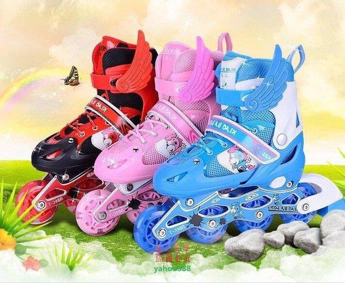 美學73小霸龍輪滑鞋男女閃光溜冰鞋兒童全套裝可調滑冰鞋成人旱冰鞋無與倫比❖038