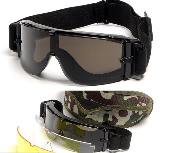 【購物百分百】X800戰術護目鏡cs射擊眼鏡運動防爆防衝擊摩托車風鏡防風沙