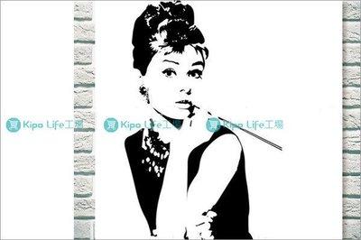 KIPO-無框畫 裝飾畫 帆布畫 經典女伶 奧黛麗赫本-NCK012192A