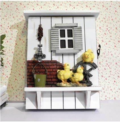 298 華城小鋪 鄉村 田園  禮品  家飾 居家 裝飾 工藝品 擺設 小鴨壁掛鑰匙盒