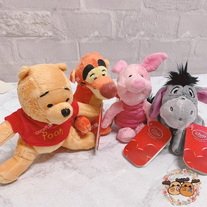 【Dona代購】日本迪士尼store限定 小熊維尼小豬跳跳虎屹耳經典造型 娃娃/玩偶/擺飾(1組4入) B04