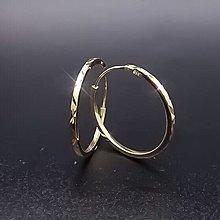 【D-W 香港鑽石世界】全新18K黃金 圈圈造型 精緻K金耳環--001282-42
