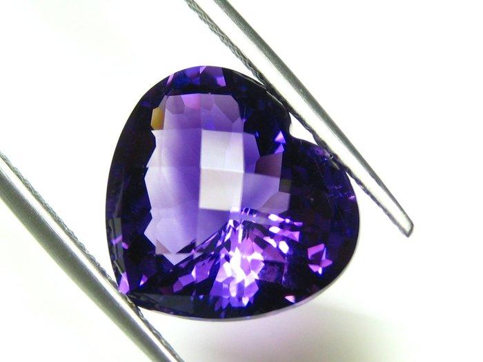 【Texture & Nobleness 低調與奢華】天然無處理 增長智慧 晶體濃郁 紫水晶 6.3克拉