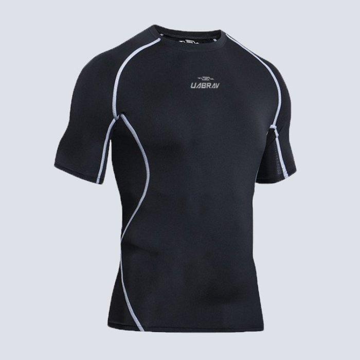 【安步威機能服系列】男 短袖T恤 壓力衣 緊身衣 同Nike款 【柔依衣坊-運動館 Zoe Sport 】#C06#5