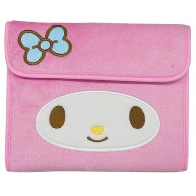 尼德斯Nydus~* 日本正版 三麗鷗 美樂蒂 Melody 零錢包 證件夾 護照套 多用途 手拿包 手帳 經典款