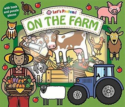 *小貝比的家*LET'S PRETEND: ON THE FARM/盒裝拼圖書/3~6歲