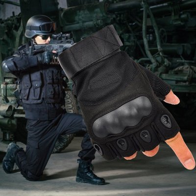 NIP軍迷戶外健身騎行裝備 男特種兵作戰格斗運動防滑半指戰術手套