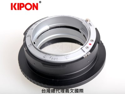 Kipon轉接環專賣店:Contax RF-S/E(integrated version)(BIG GEARED)(Sony E|Nex|A7R3|A7S)